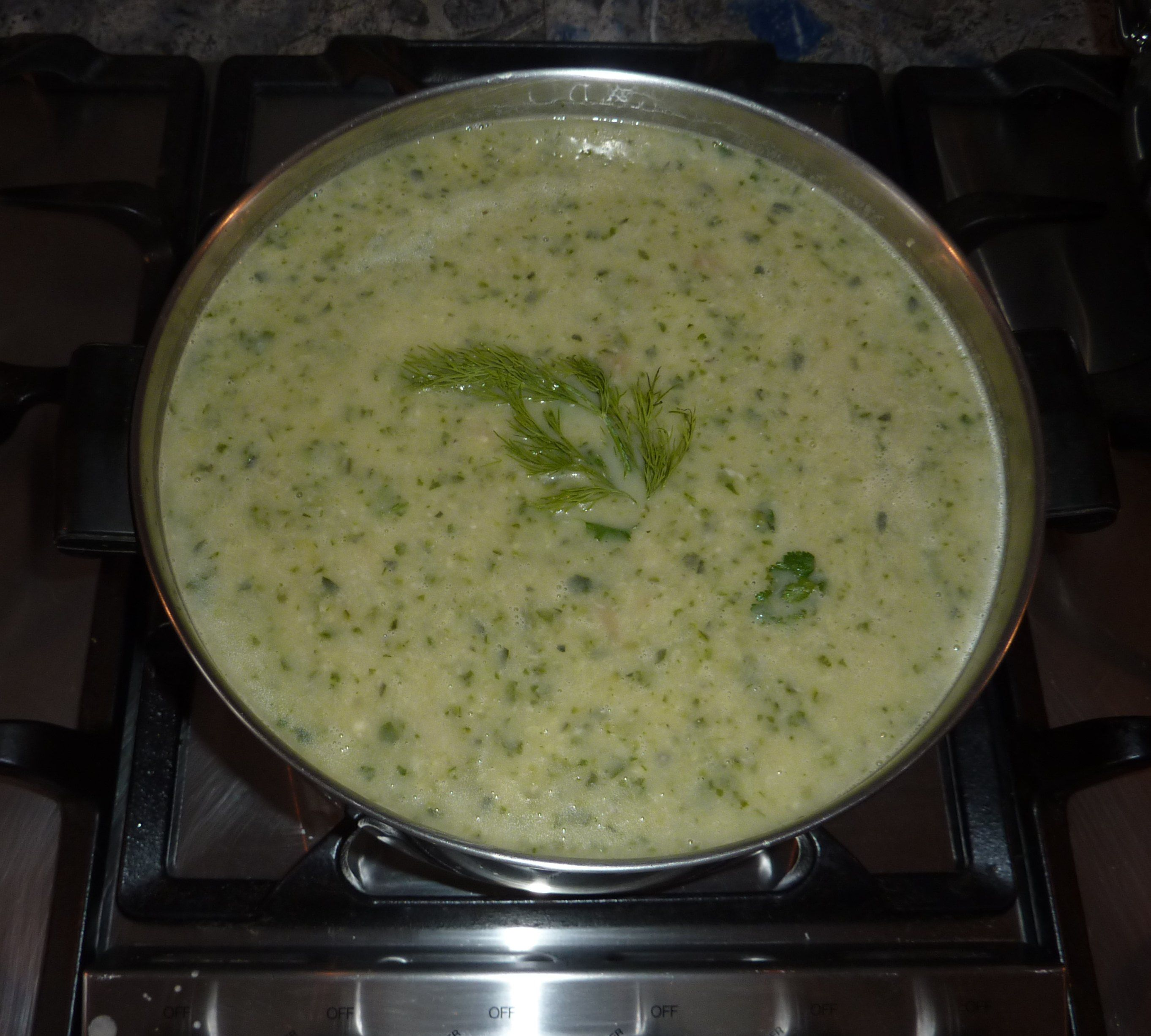 Creamy Zucchini Soup - crock pot - replace sour cream with Greek yogurt