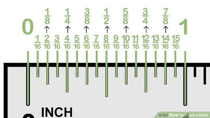 How To Read A Ruler 10 Steps With Pictures Wikihow Reading A Ruler Ruler Ruler Measurements