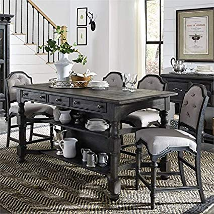 Amazon Com Magnussen Bedford Corners Counter Height Dining Table