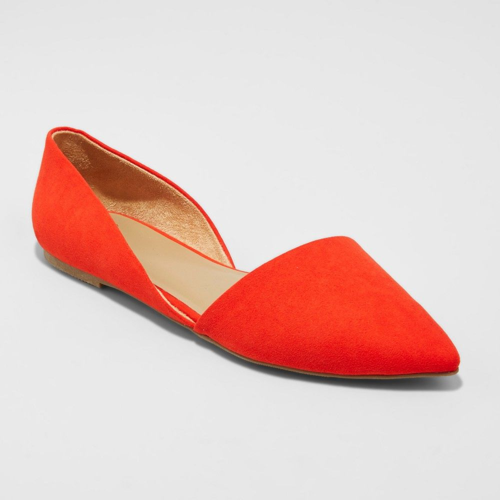 834858d58bea Women s Poppy d Orsay Pointed Toe Ballet Flats - A New Day Coral (Pink) 7.5