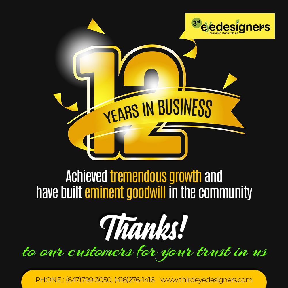 12 Years in Business..!! in 2020 Mississauga, Brampton