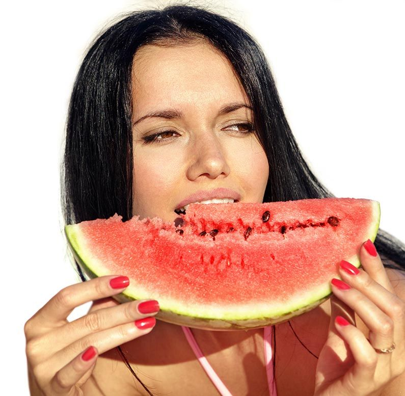 girl eats watermelon | Royalty-Free Images, stock photography ...