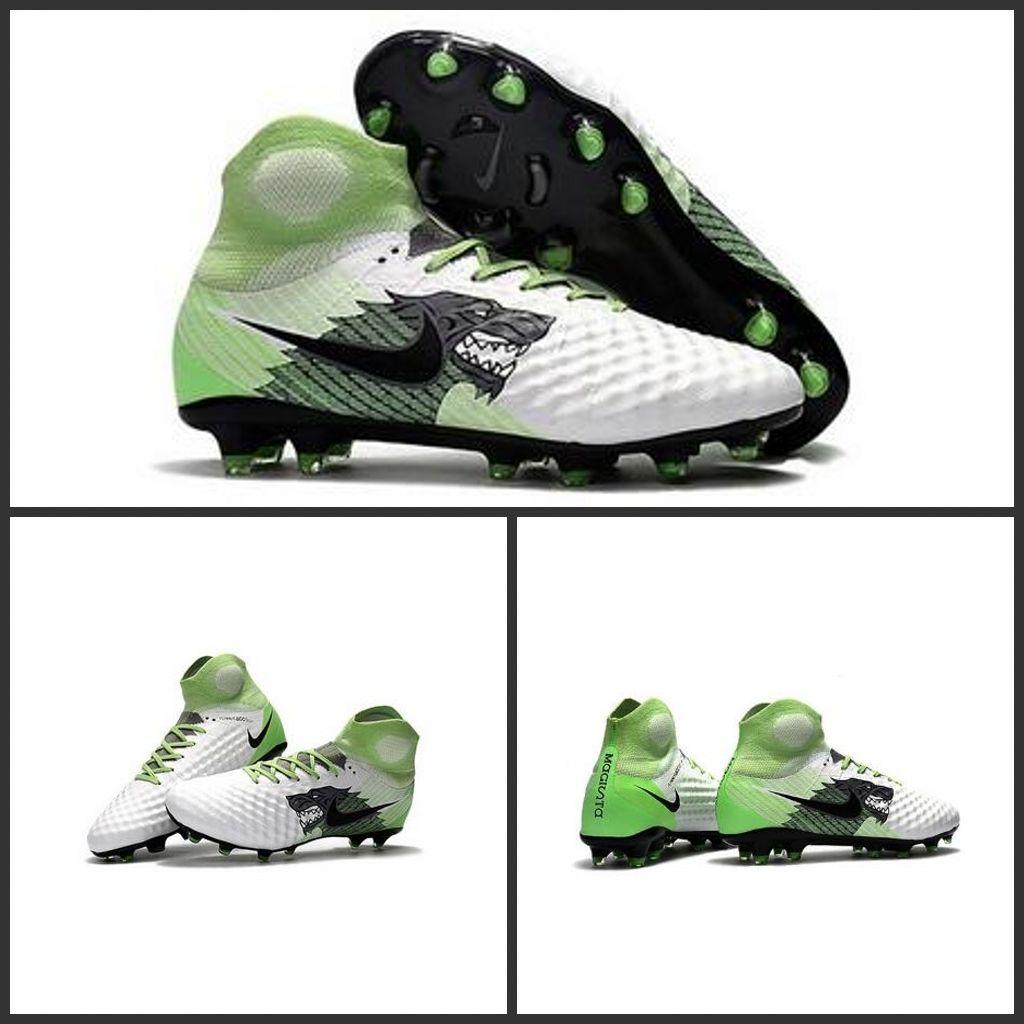 Nuova Nike Magista Obra II FG 2017 Scarpe da Calcio Bianco