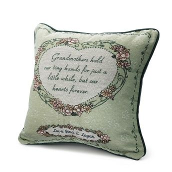 Personalized Grandmother's Heart Pillow , Add Your Message