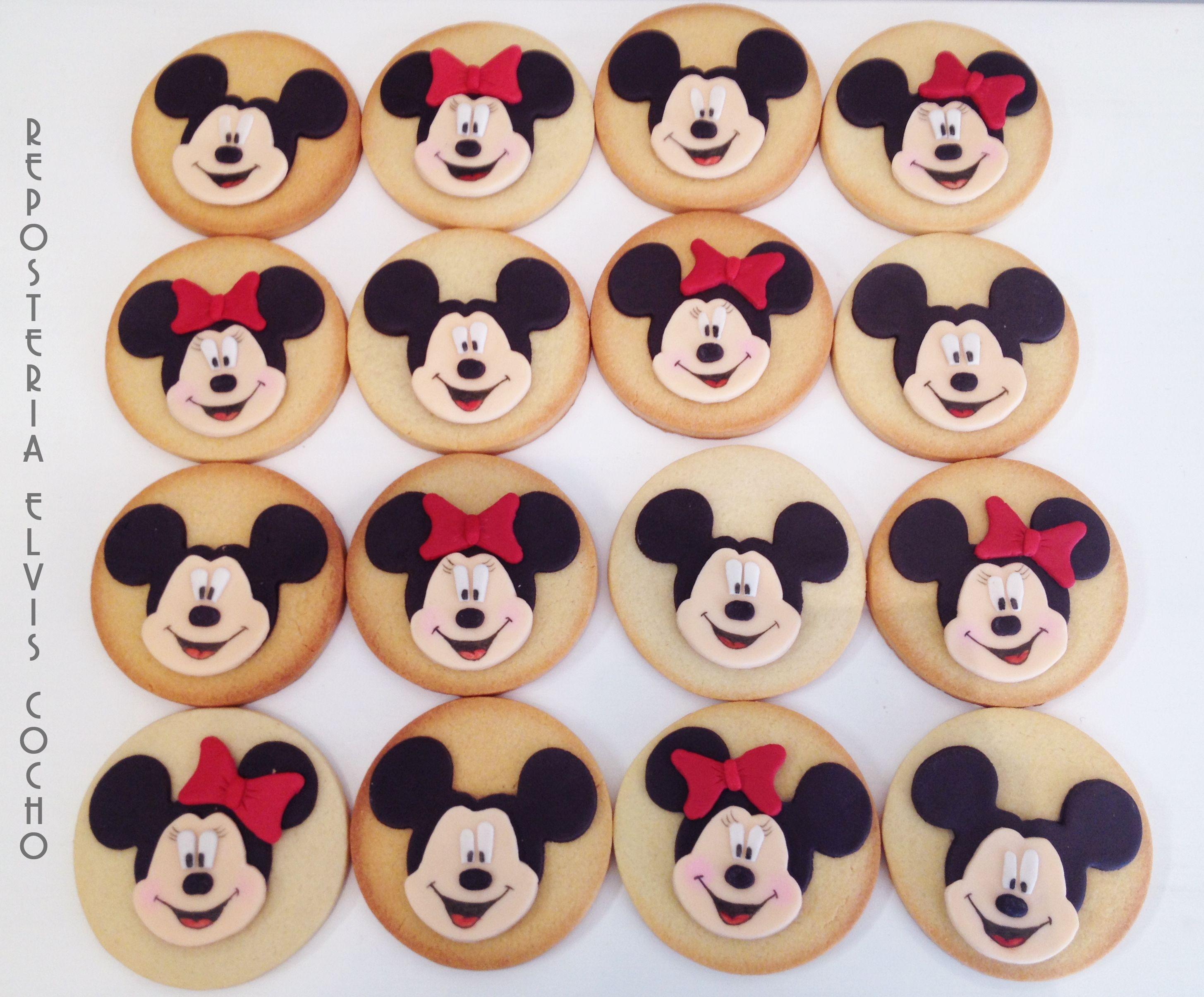 Galletas Mickey y Minnie Mouse