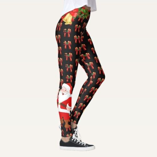 74023b35b6d0c Christmas Leggings Santa Personalize Choose Color $60.60 by MyDesignStudio  running workouts, fitness running, begginer