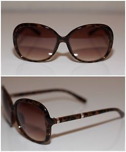 ee07dee3549 Leopard Oversized Brown Gold Accent Sunglasses Womens 100 UV UVB  Rectangular