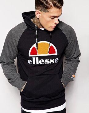 54bd4e5f Ellesse Logo Hoodie Raglan Sleeves   Fa$hion.   Ellesse, Hoodies ...