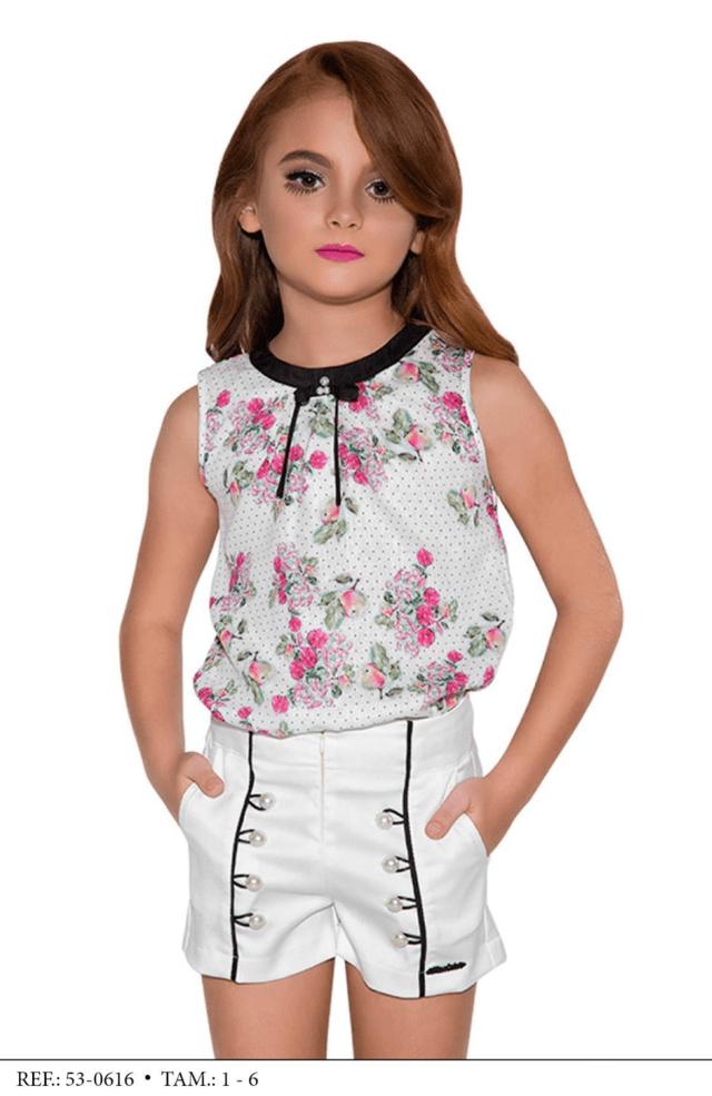 dfb3fa5bb4 Conjunto Shorts y blusa niños de la manera Miss Cake y Jóvenes 530616
