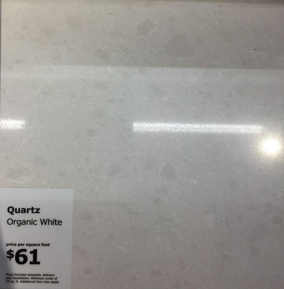 Ikea Organic White Quartz White Quartz Quartz Installation