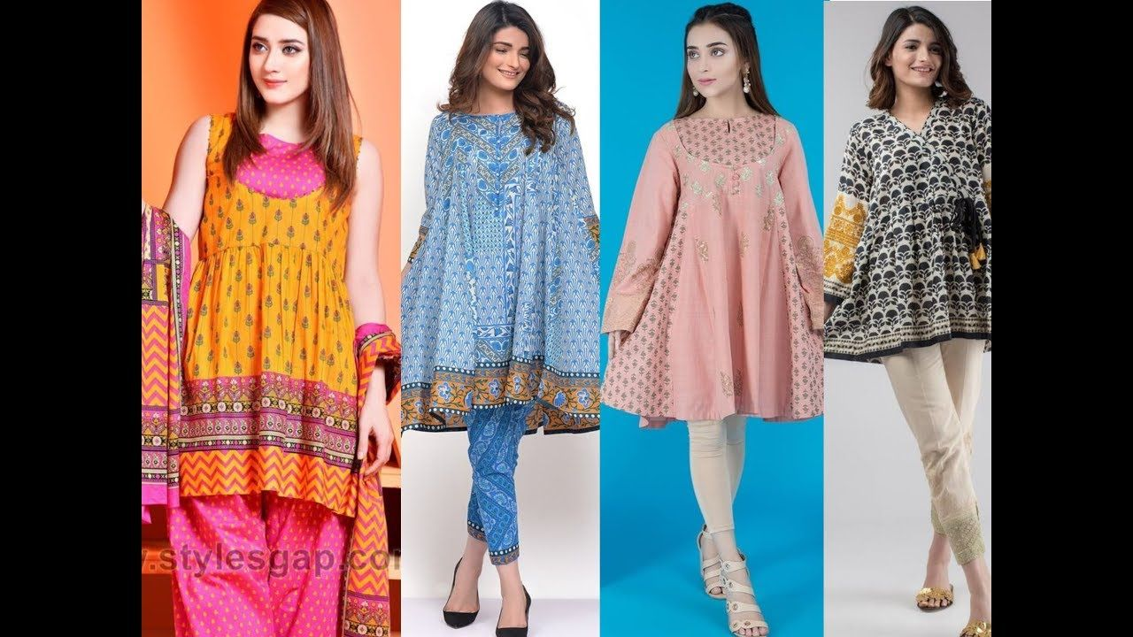 Top Outstanding Jhabla Styles Kurti And Stylish Short Frocks Designs Cas In 2020 Short Frocks Frock Design Casual Dresses