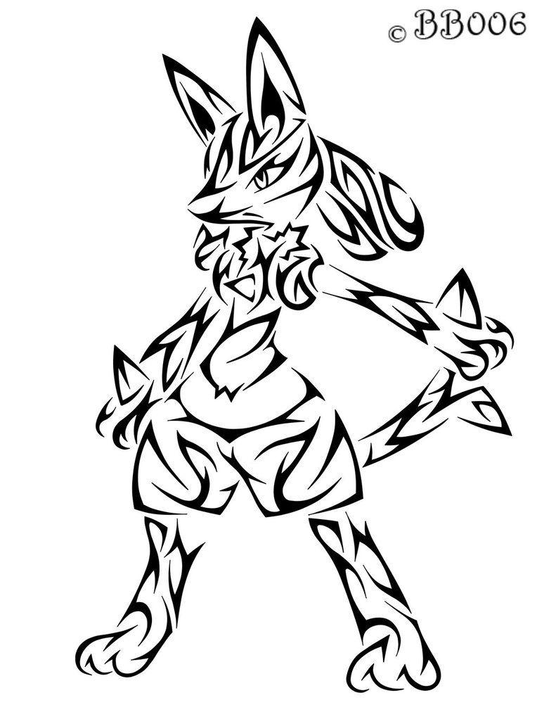 Pokemon Lucario Tribal Tattoos Wwwtopsimagescom