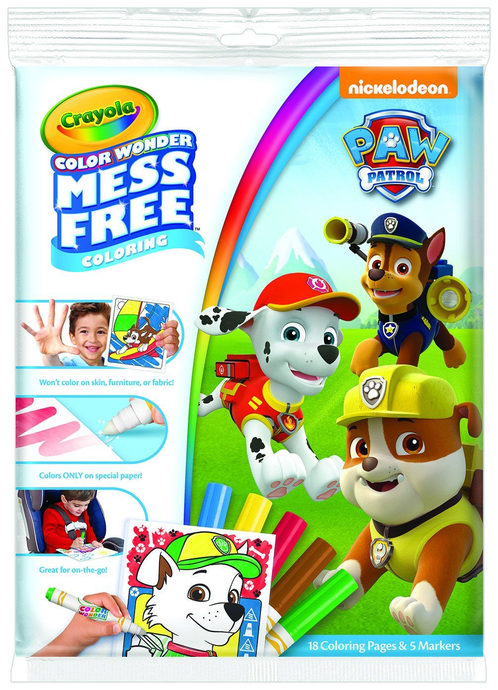 Amazon.com: Crayola Paw Patrol Color Wonder Coloring Pad & Markers ...