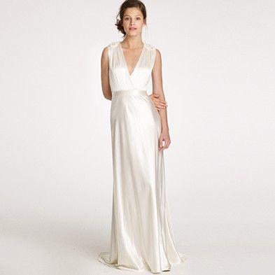 Silky Wedding Dress Jcrew Wedding Dress Vintage Style Wedding Gowns Unusual Wedding Dresses