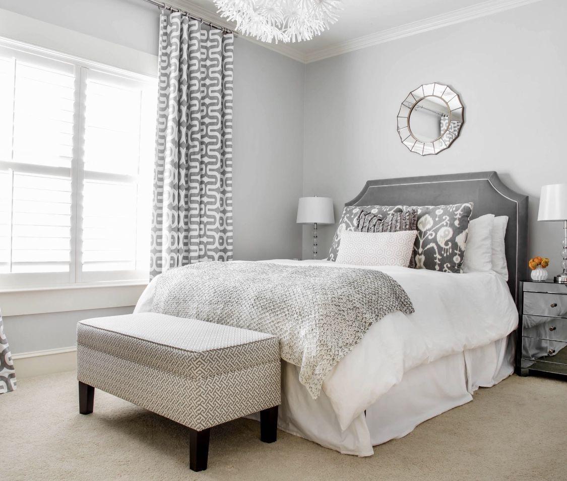16 Relaxing Bedroom Designs For Your Comfort: Cozy Dream Bedroom Grey Bedroom Decor With Grey Velvet