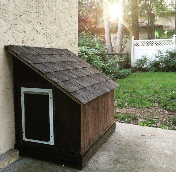 Items Similar To Hidden Doggie Door Dog House On Etsy Dog Door