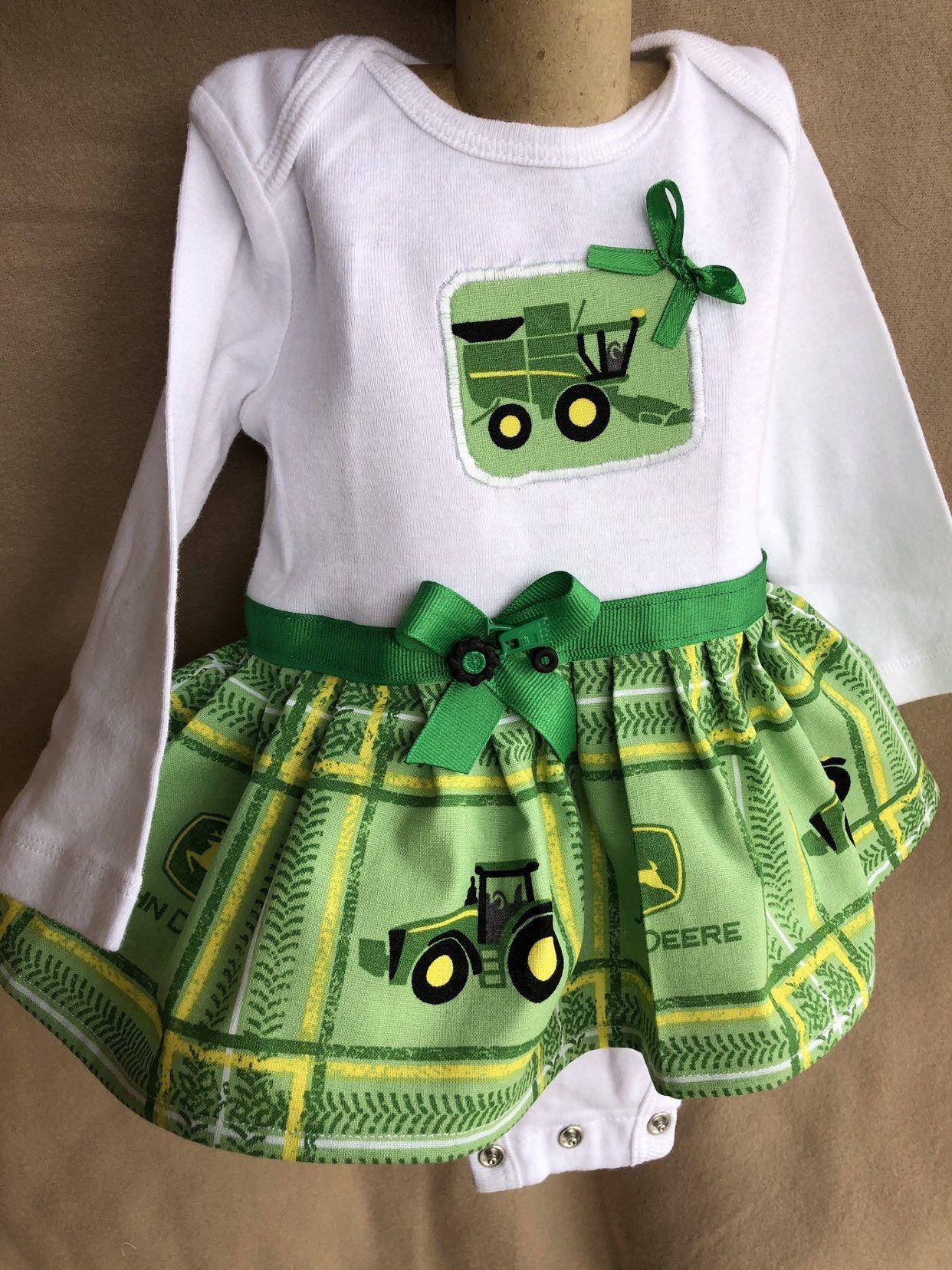 Items similar to John Deere-Girls Ruffled Skirt 2t, 3t