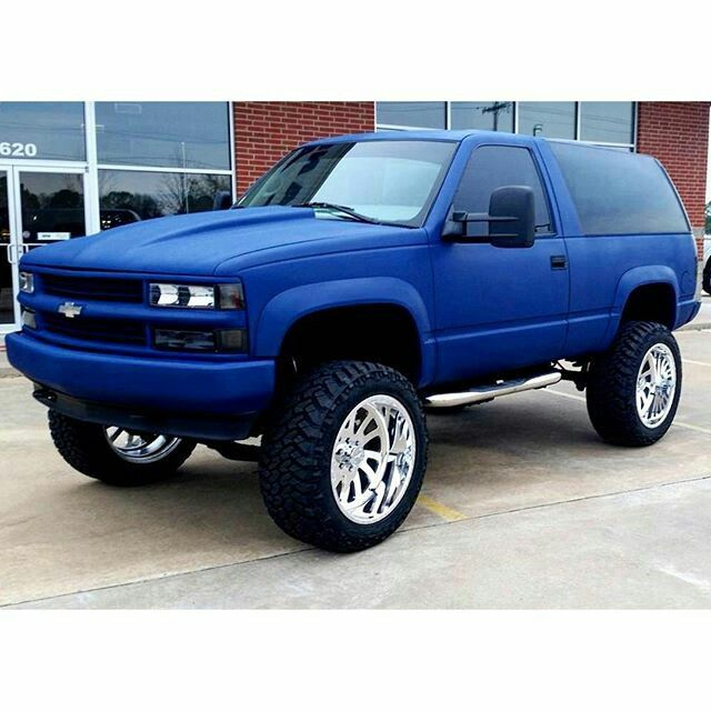 Flat Blue Tahoe Chevy Trucks Chevy Tahoe Lifted Chevy Trucks