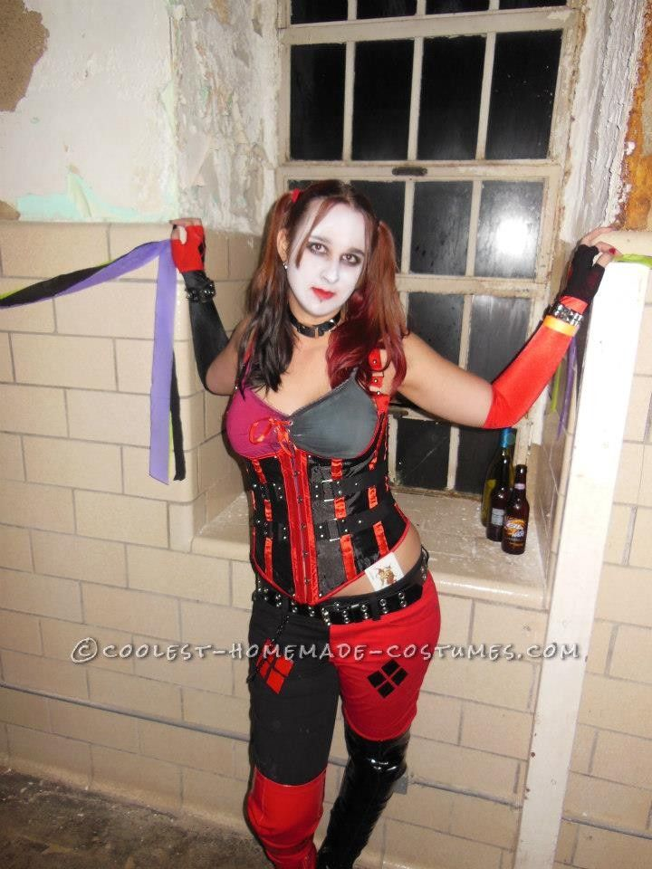 sexy harley quinn homemade halloween costume homemade. Black Bedroom Furniture Sets. Home Design Ideas