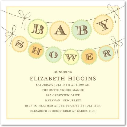 Baby Banner - Baby Shower Invitations - Umbrella - Yogurt - free online baby shower invitations templates
