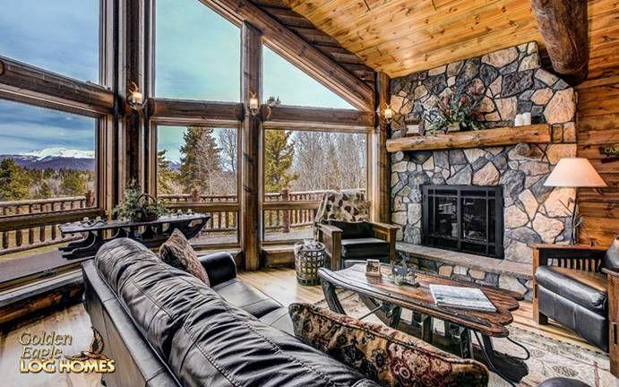 Ski Home Prow Log Home floor plan from Golden Eagle Log & Timber Homes