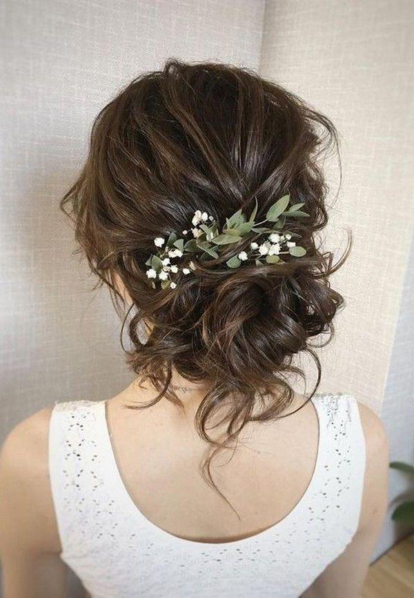 20 wunderschöne Hochzeitsfrisuren mit Blumen zum Besten von den Herbst flowers #weddingfall