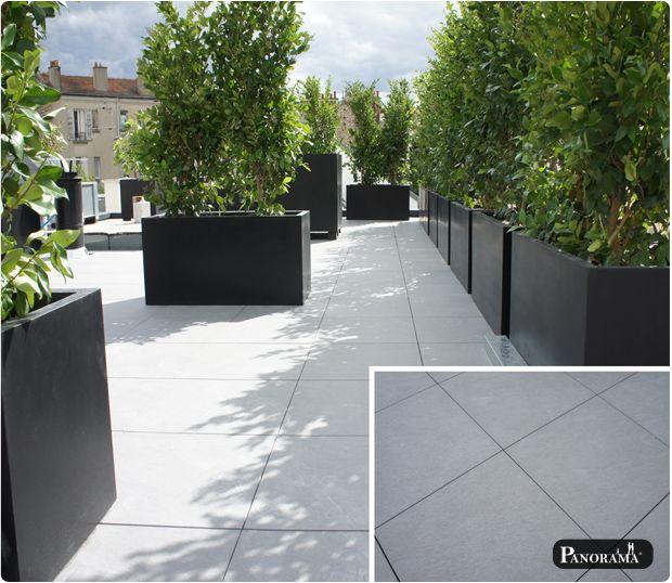 terrasse sur étancheité en dalles de grès cérame boulogne - Prix Dalle Terrasse Exterieure