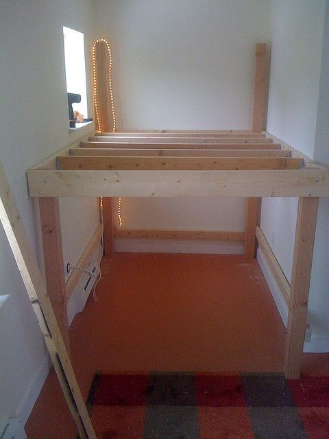 Loft Framing Mostly Done My Home Bunk Beds Bed