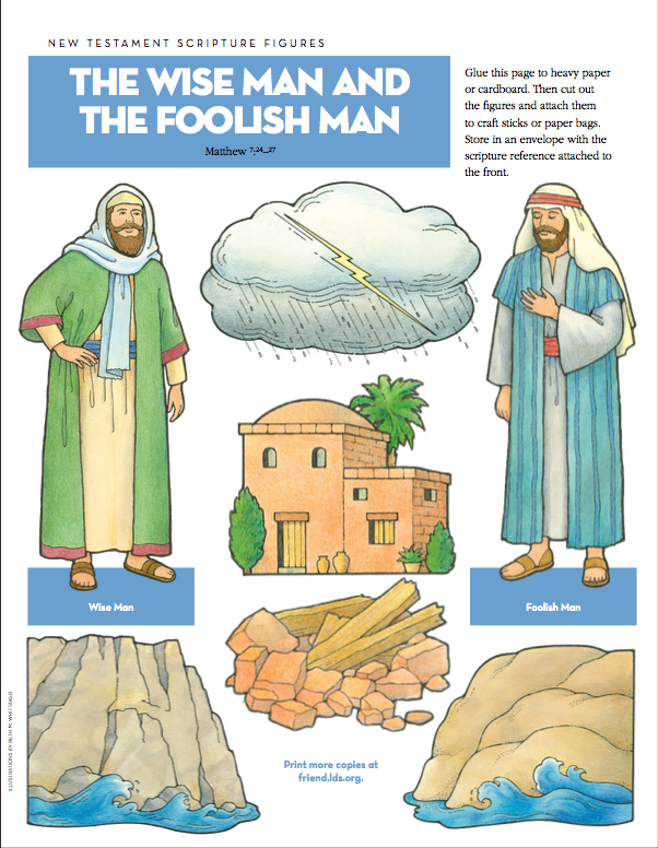 New Testament Scripture Figures: The Wise Man and the Foolish Man ...