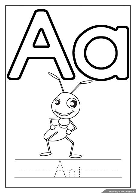 Alphabet Coloring Page Letter A Coloring A Is For Ant Letter A Coloring Pages Coloring Letters Alphabet Coloring Pages