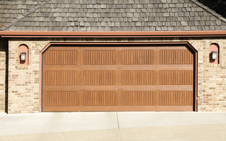 Faux Wood Garage Door With No Windows In 2020 Faux Wood Garage Door Wood Garage Doors Fiberglass Garage Doors