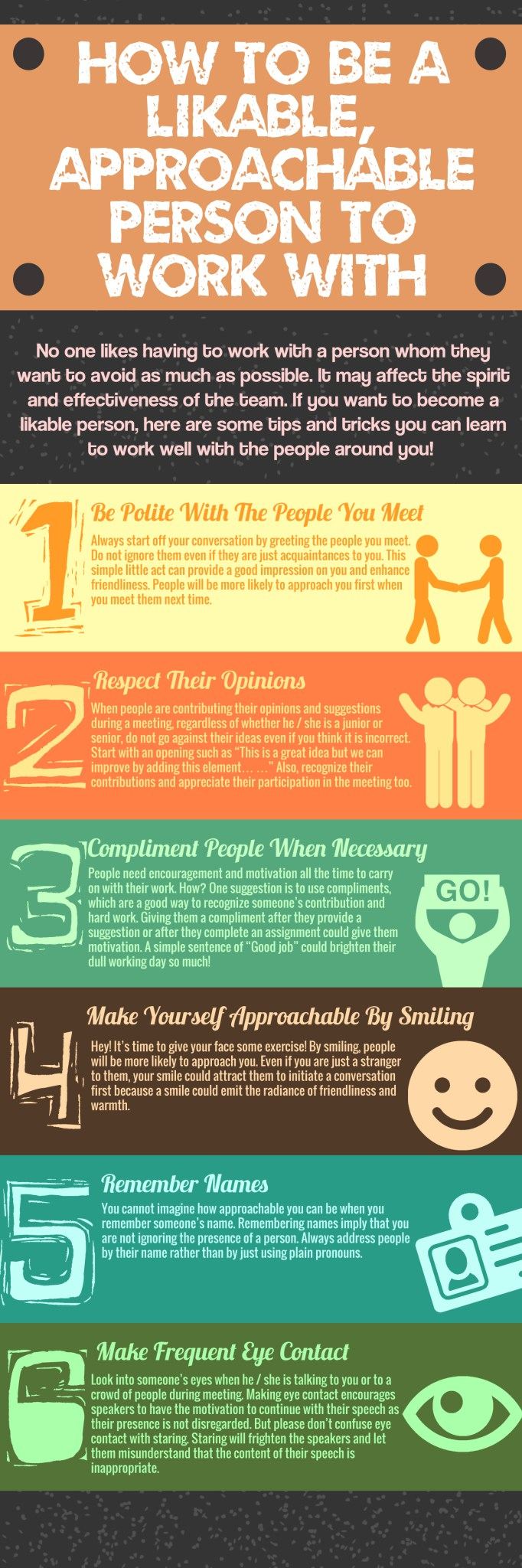 How To Be A Likable, Approachable Person To Work With