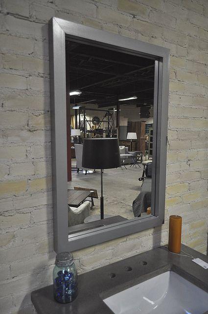 HammertoneMirror   Steel framed mirror. 26x 38 inches. Silve…   Flickr