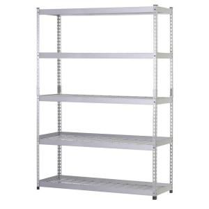 Husky 5 Shelf 48 In W X 78 In H X 24 In D Silver Steel Storage Shelving Unit In Silver Mr482478w5 Steel Shelving Unit Shelving Unit Garage Shelving Units