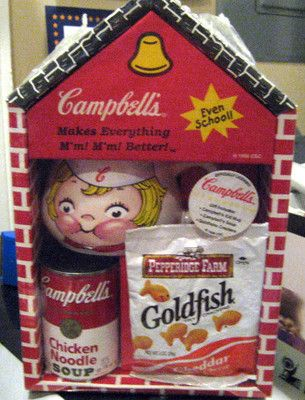 Campbell Soup School House New in Plastic