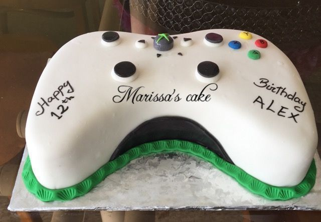 Xbox controller birthday cake Visit us Facebook marissascake or - best of coloring page xbox controller