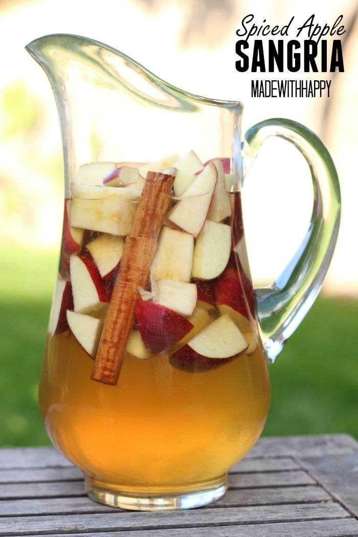 Spiced Apple Sangria - Fall Festive Cocktail   Summer Drinks/Foods ...