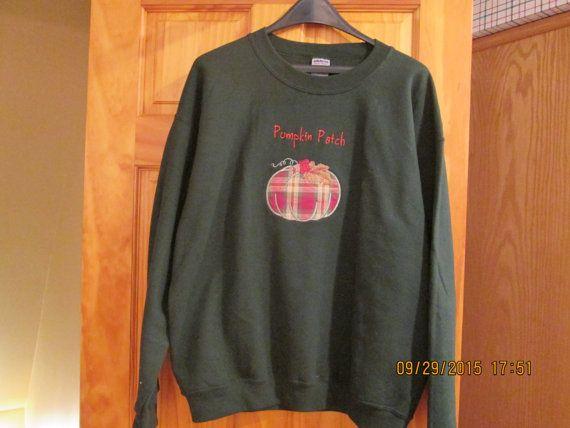 Large pumpkin patch sweatshirt