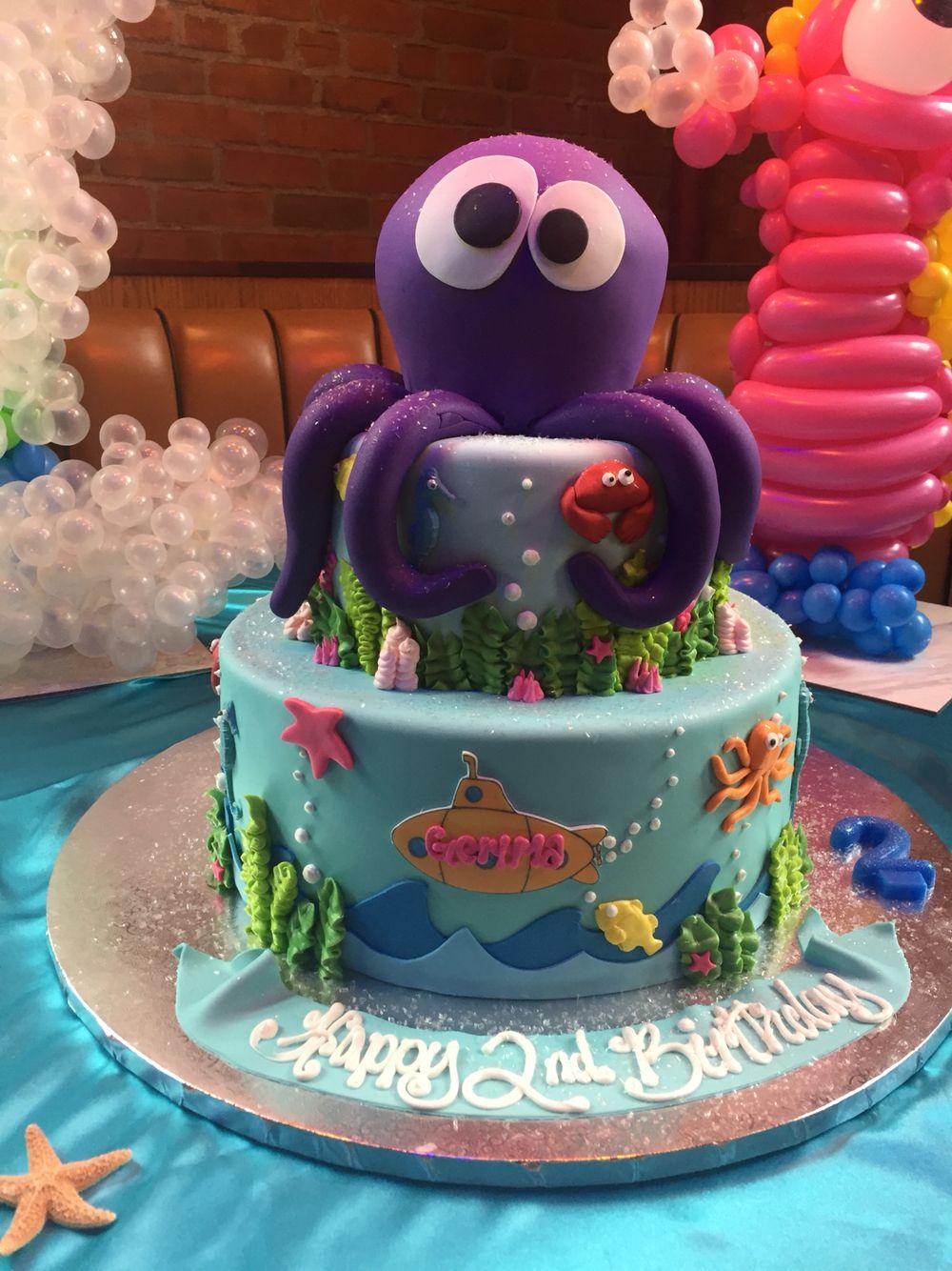 Pleasing Aquarium Cake Ocean Birthday Party Gemma Turns 2 Greater Funny Birthday Cards Online Necthendildamsfinfo