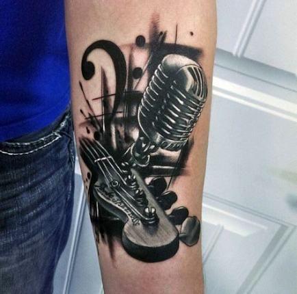 New Tattoo Music Guitar For Men 62+ Ideas