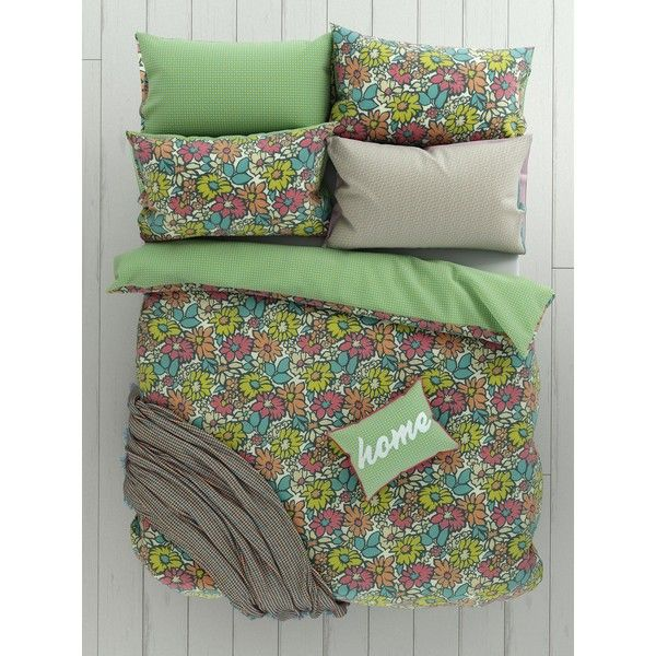 Helena Springfield Bonnie Duvet Cover Set (130 BRL) ❤ liked on Polyvore featuring home, bed & bath, bedding, duvet covers, home & furniture, polka dot bedding, floral pillowcases, polka dot pillow case, polka dot duvet and polka dot pillowcases