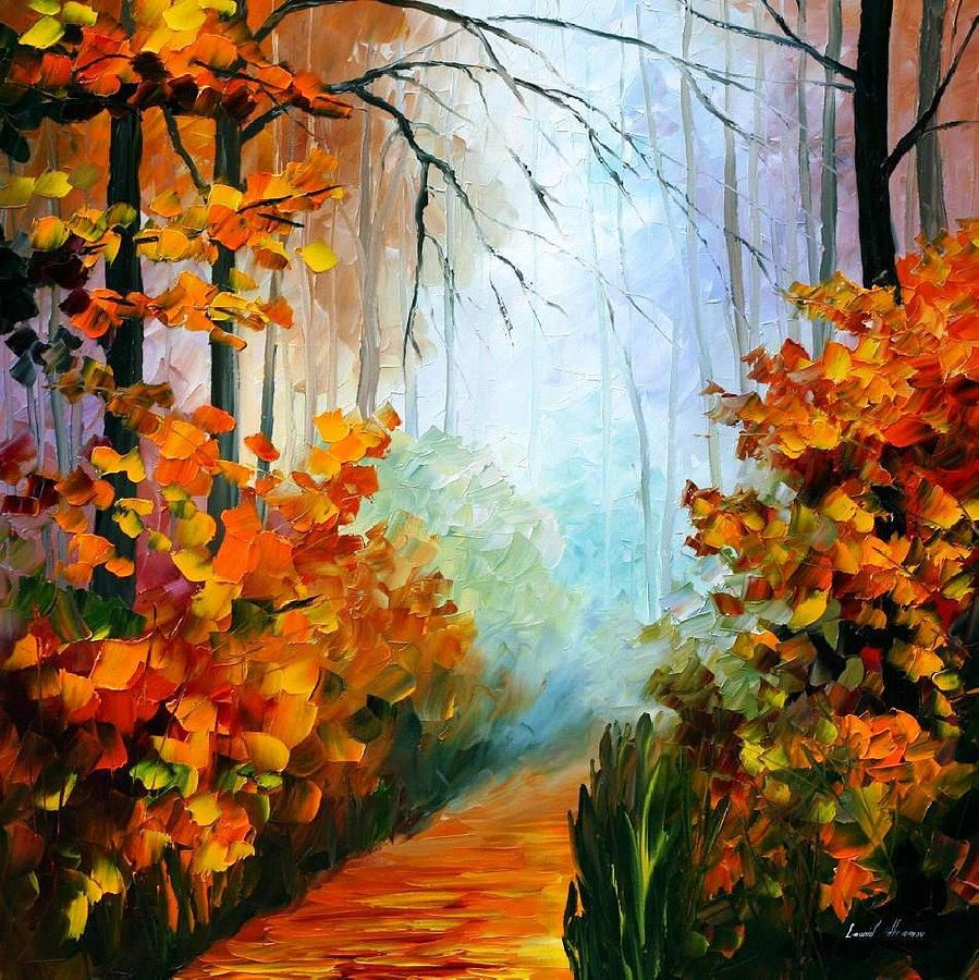 Sunny October 2 - Palette Knife Oil Painting On Canvas By