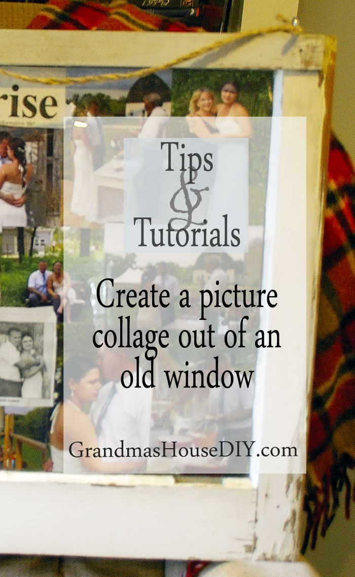 How to create a picture collage and frame out of an old window how to create a picture photo collage gallery out of an old window diy solutioingenieria