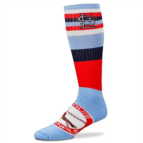 buy popular 02152 54012 St. Louis Cardinals Men's Rainbow Cooperstown Tube Sock ...