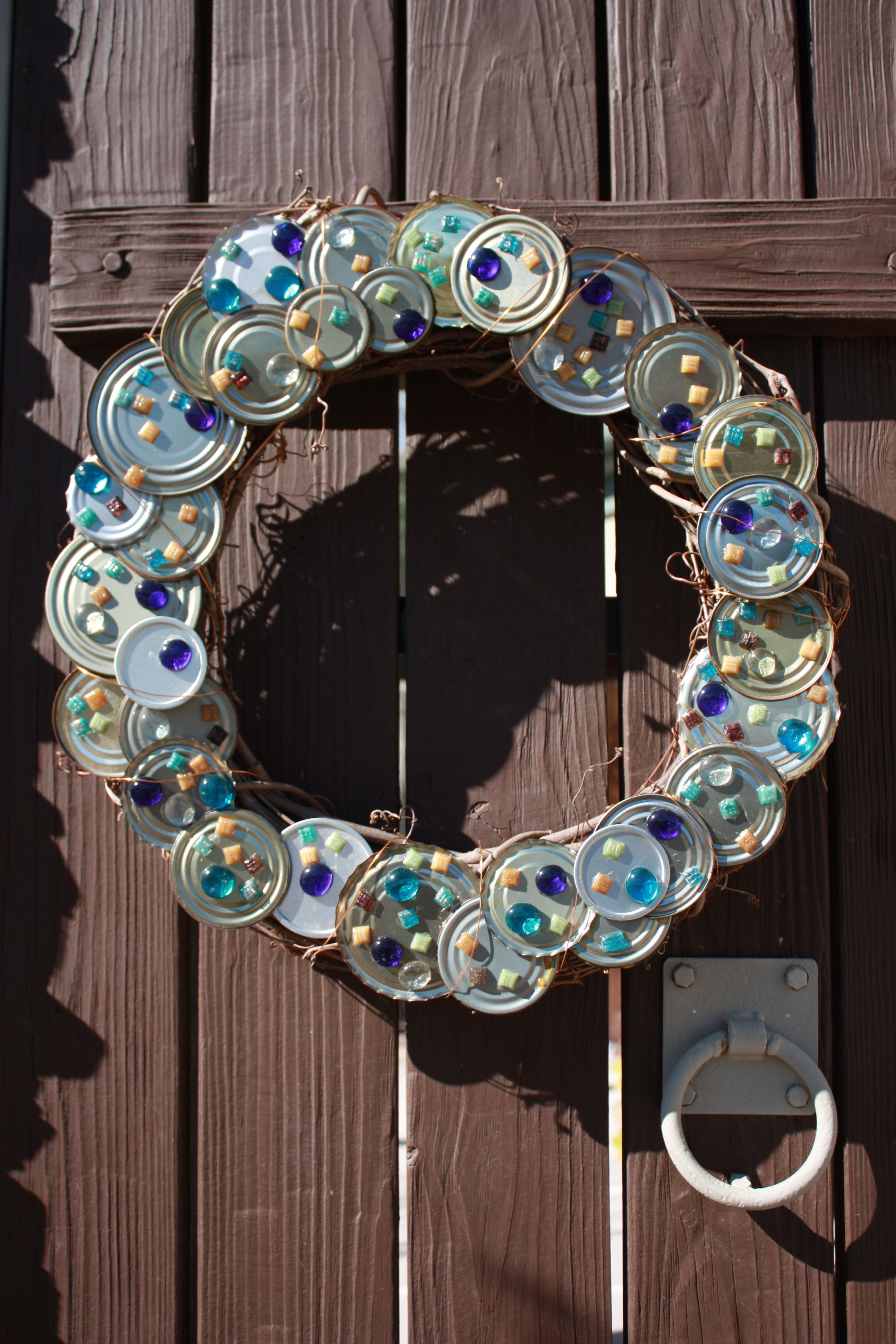 Wreath For Our Courtyard Doors For In Between The Holidays Glued