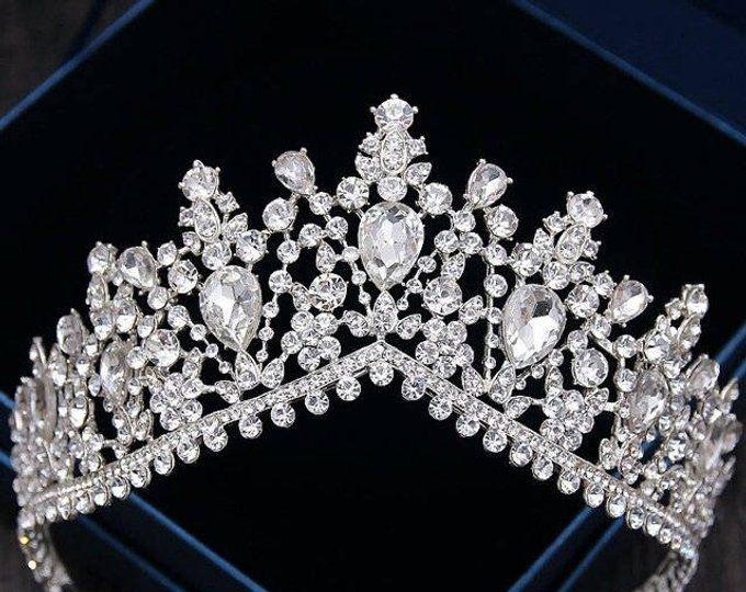Tiara Victorian Pearl Bridal Tiara, VICTORIA Pearl Tiara, Diamante Tiara, Leaf Pearl Wedding Tiara, Swarovski Crystal Edwardian Bridal Tiara