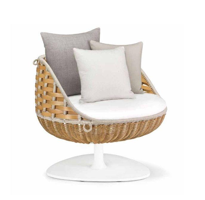 Dedon Swingrest Lounge chair, hochwertige Gartenmöbel Swingrest von Villa Schmidt