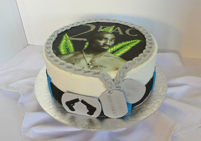 2pac Themed 21st Birthday Cake Music Themed Cakes Pinterest