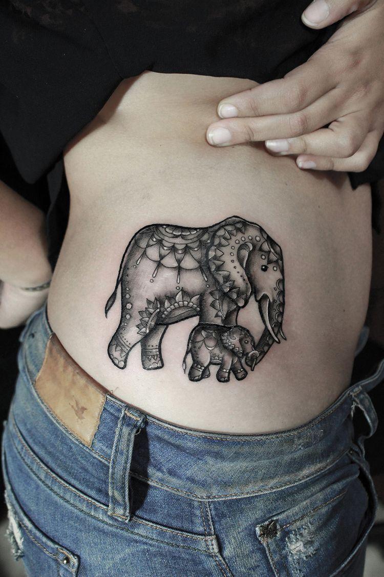17f5e3503 75 Big And Small Elephant Tattoo Ideas | Tattoo | Tattoos, Elephant ...