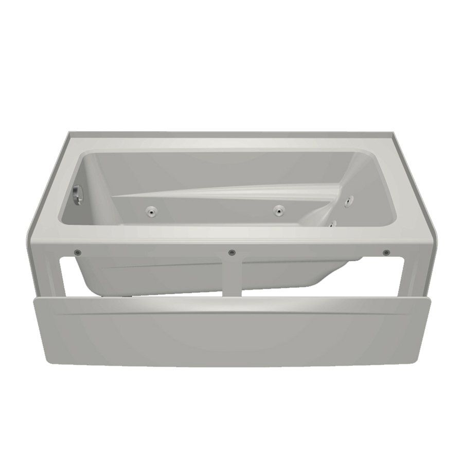 Jacuzzi 60-in L x 32-in W x 19-in H Primo White Rectangular Skirted ...